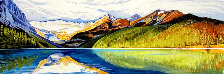 Reflections Lake Louise by Margarethe Vanderpas.