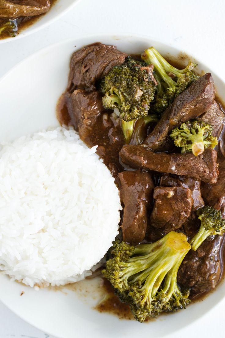 Slow Cooker Beef Tips & Broccoli