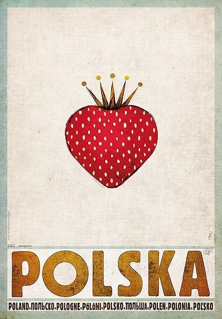 Strawbery, Poland, Polish Promotion Poster