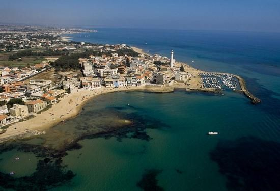 punta secca, vista aerea  - PUNTA SECCA - Sicilia-Italia