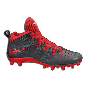 ... nike huarache 4 lax anthracite challenge red lacrosse