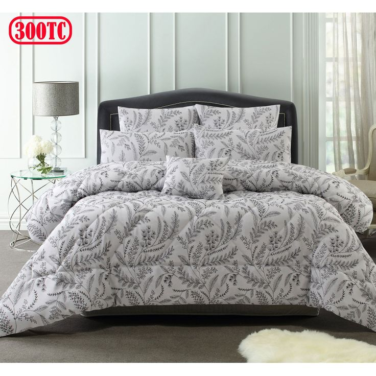 300TC 6 Pce Mabel Jacquard Comforter Set by Accessorize