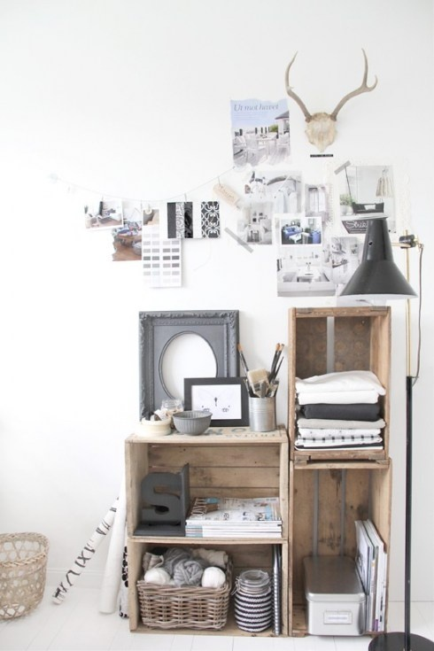 1000 images about crate shelving on pinterest crate for Re storage crate