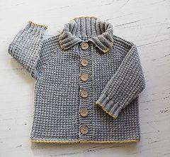 fisherman rib baby boy jacket