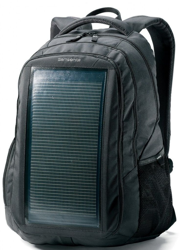 Solar power -                                                      Solar Powered Laptop Backpack from Samsonite - charge on the go!