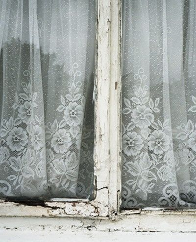 Love lace curtains.  From Inspiration Lane.