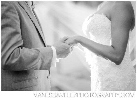 Reciting of the wedding vows at Casitas Garden. Destination Wedding | El Conquistador Resort & Las Casitas Village | Puerto Rico | ElConResort.com Vanessa Velez Photography