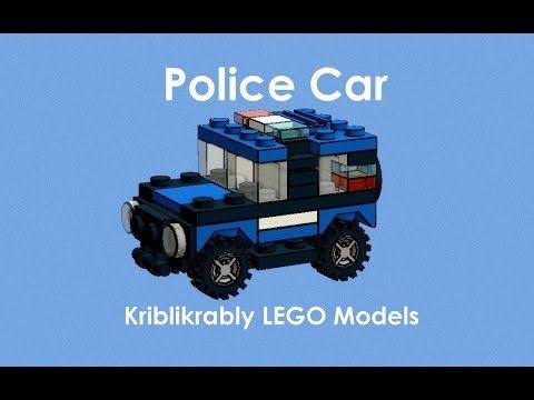 Mini LEGO Models - Mini LEGO Police Car Model (MOC)