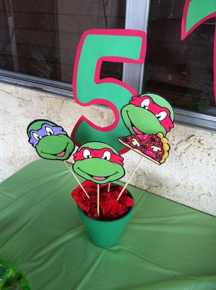 ninja turtles centerpieces   Ninja turtles birthday decorations   Jovan