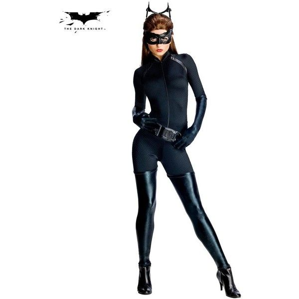 Catwoman from Batman The Dark Knight Rises (€49) ❤ liked on Polyvore featuring costumes, halloween costumes, multicolor, dark knight rises catwoman costume, batman dark knight rises costume, sexy catwoman halloween costume, catwoman costume and tail costume