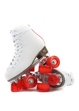 ROOKIE Classic Rollerskates - WHITE/RED