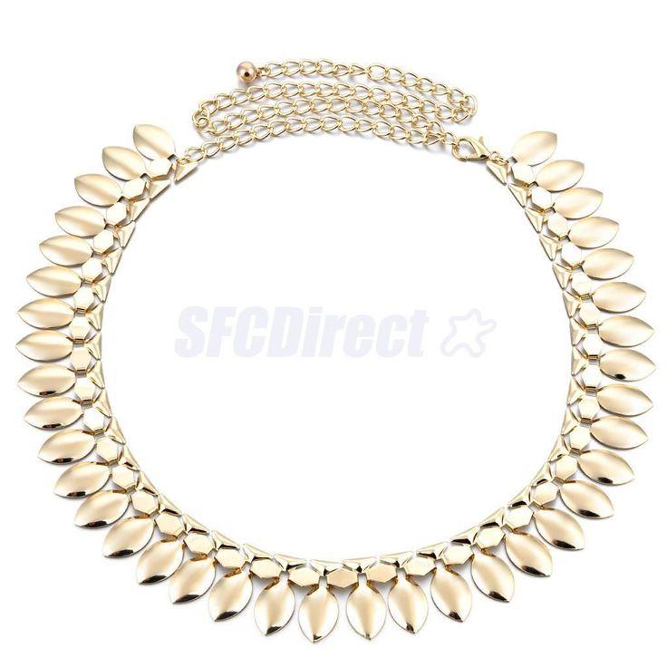Stylish Women Ladies Tassels Metal Waist Chain Belt Gold Belly Dance Belt