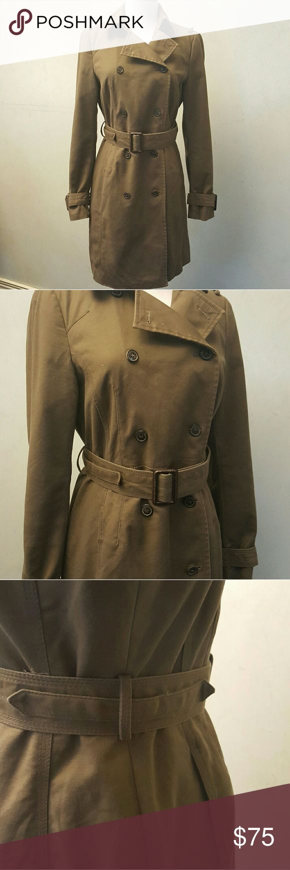 Zara brown trench coat Zara basic brown trench coat, in great condition Zara Jackets & Coats Trench Coats
