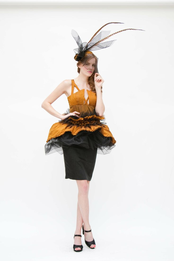 Black and Gold Duppioni Silk Dress, Skirt and Handbag  Lookbook Shoot Fall/Winter 2012/13 – Flourish - Graduation Collection  Skye Davies Inc.   www.facebook.com/fashionbyskye   www.etsy.com/shop/FashionbySkye  www.twitter.com/FashionbySkye www.portraitsbyanita.com