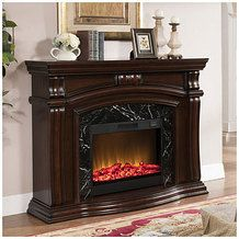 """62"""" Grand Cherry Fireplace 4800 BTUs from Big Lots $599.99 (SAVE $500 Compare To $1,099.99)"""