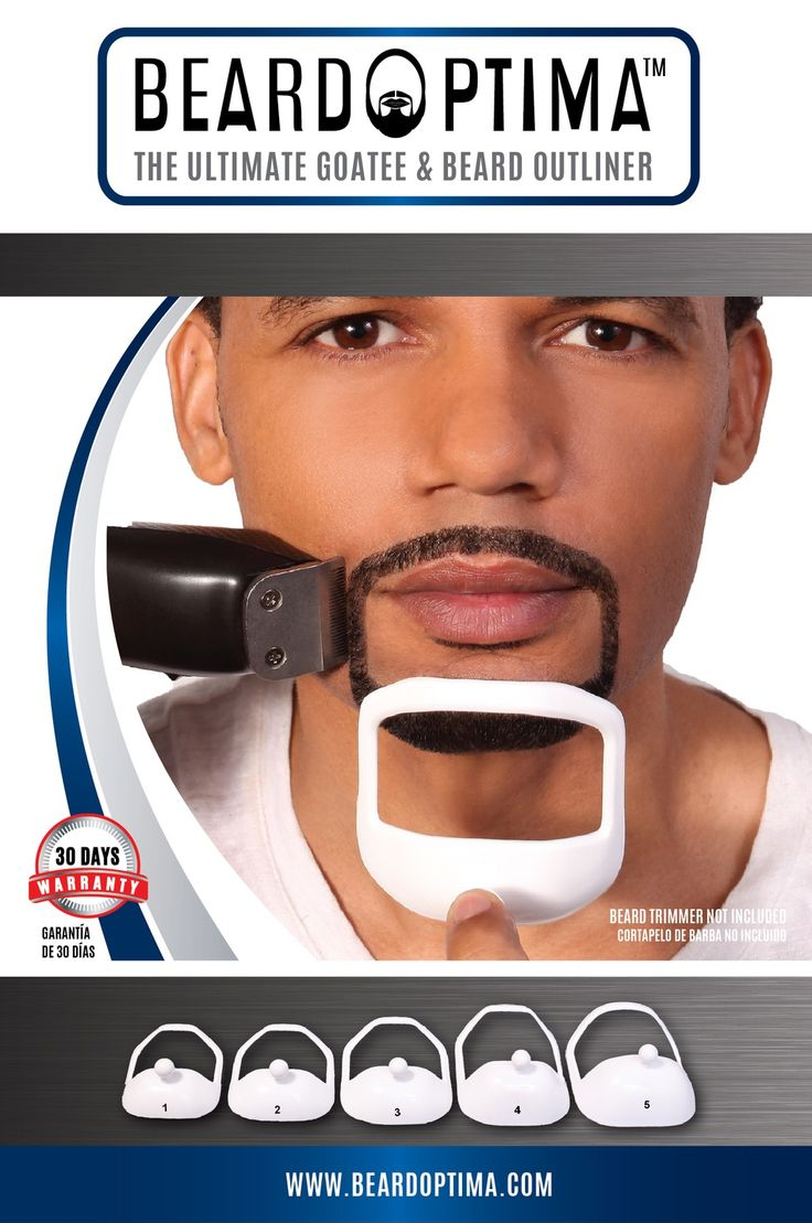The ultimate goatee outliner kit in 5 sizes set contains