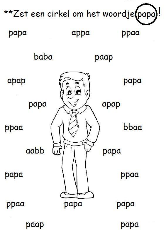 Werkblad papa.