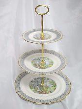 ROYAL ALBERT - Silver Birch - 3 TIER TIDBIT Dessert SERVER - 0131