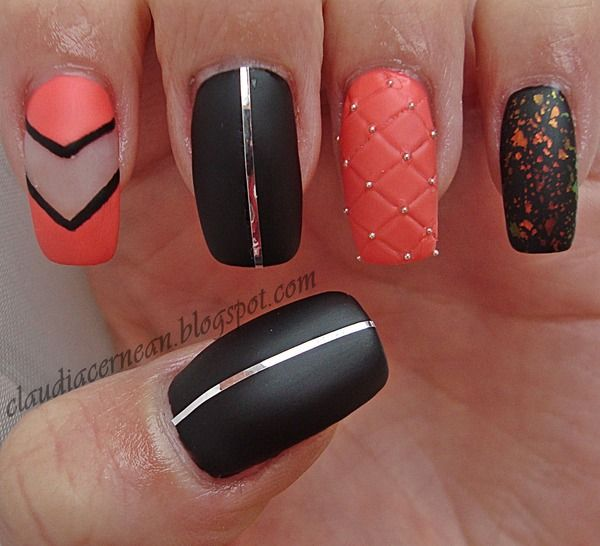 Quilted Nails - http://claudiacernean.blogspot.ro/2013/03/unghii-matlasate-quilted-nails.html