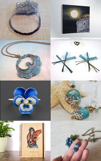 ETsy promo forum-BlueGreen gifts by Lily Bhattacharya (Indigo/Crystal) on Etsy--Pinned with TreasuryPin.com