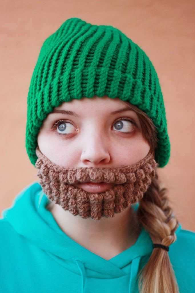 1000 Images About Sewing Crochet Hat With Hair Beards