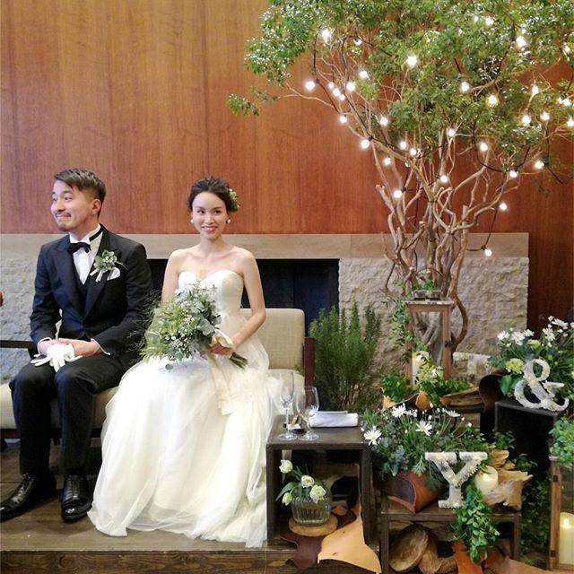 2017.02.18無事に結婚式を挙げることができました♡ 可愛い祝電もありがとうございました♡ 幸せいっぱいの一日になりました♡ 結婚式は親族中心の超少人数でおこないましたので、5月に友人中心の二次会をする予定です♡ 来ていただけたら嬉しいです♡ #結婚式#ナチュラルウェディング#ウェディングドレス#高砂#高砂ソファー