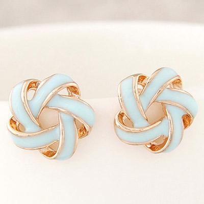 podotukushop_T6EAF6 Anting Tusuk flower shape decorated simple design