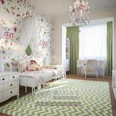 Дизайн светлой детской комнаты с присоединенной лоджией: Детские комнаты в . Автор – Olga's Studio