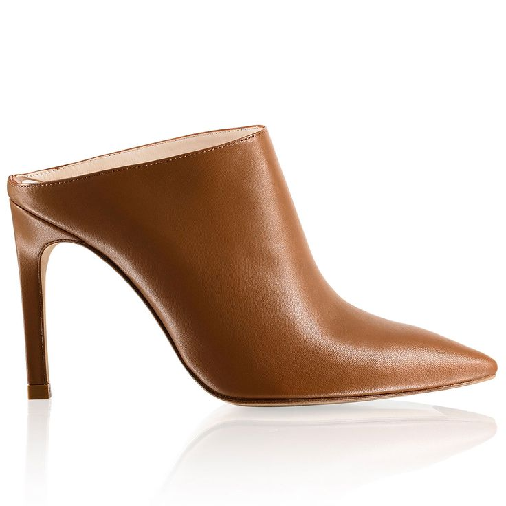 These pointed heel mules by Russell & Bromley called St Honore add a touch of understated glamour to any Spring outfit - In buttersoft tan nappa leather, the sleek silhouette is kept clean with a point toe and high covered heel. Slip on with sharp tailoring or relaxed separates and give any outfit an ultra-cool edge #muleoftheseason...x
