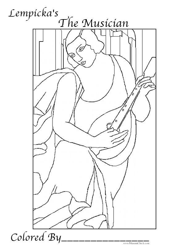 Tamara de Lempicka The Musician