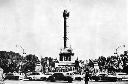 Columna del Angel de la Independencia, sin el Angel 1957