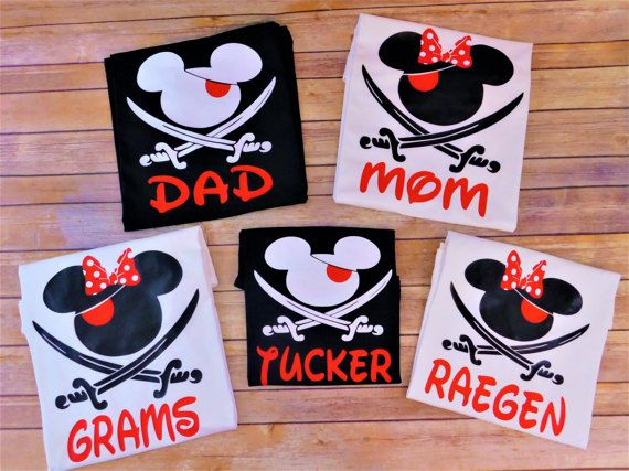 Disney pirate shirts Disney Cruise Pirate shirts Family | Etsy