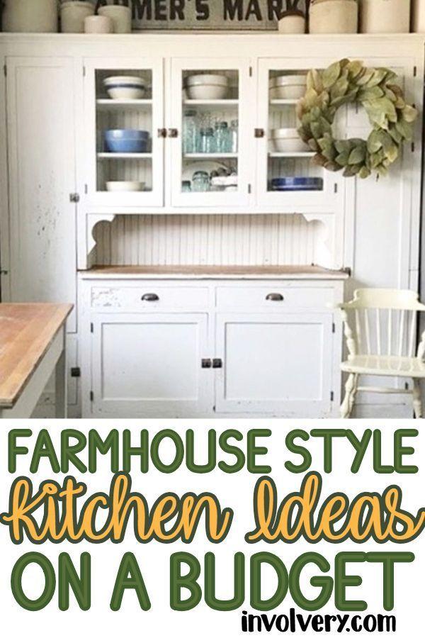 Farmhouse Kitchen Ideas On A Budget Diy Decorating Farmhouse