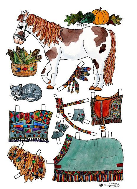 FREE printable horse paper dolls