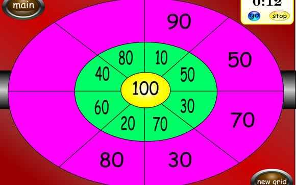 Dartboard Centre Total - 6-11 year olds - Topmarks