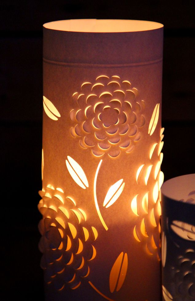 DIY Paper Lanterns with Beautiful 3D Flowers