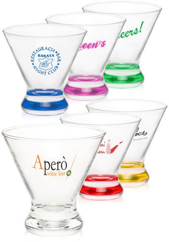 Discount Mugs - Custom Gifts -   Customized 8.25 oz. Cosmopolitan Stemless Martini Glasses