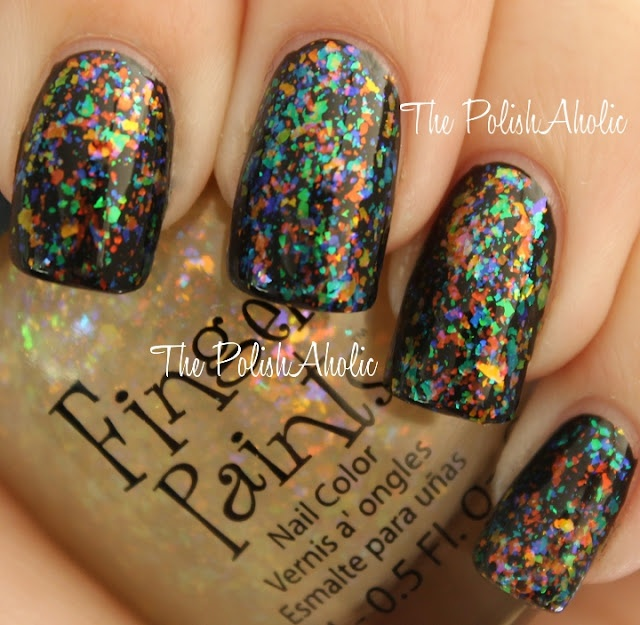 The PolishAholic: Flakie-gasm  i almost bought this color once, but didn't know how it would look. I'm regretting it now.  GORGEIOUS over black
