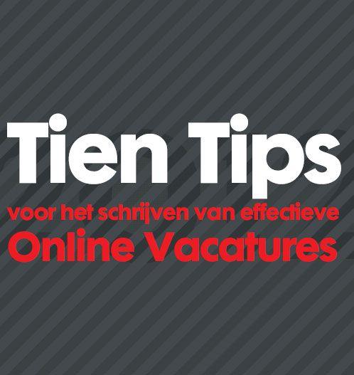 Tien tips voor het schrijven van ICT vacatures: http://blog.itjobboard.nl/tien-tips-voor-het-schrijven-van-ict-vacatures/