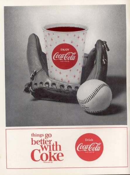 coca cola baseball ad