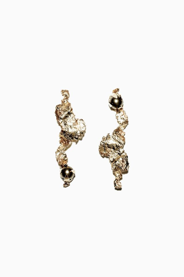gold plated pewter swarovski crystal pearls