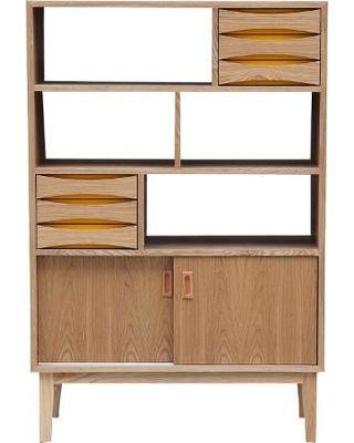 kardiel kardiel vodder 4tier upright cabinet midcentury modern bookcase natural