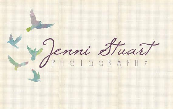 #30. Premade Logo, Photography watercolor bird spirit simple artistic branding design art OOAK