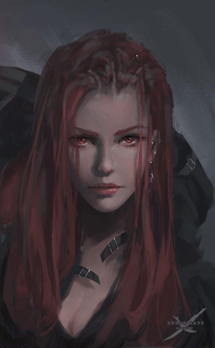 Portrait for Lenia in GhostBlade. Original file: www.patreon.com/posts/7643362