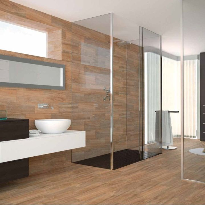 Aliso wood effect tiles have a lovely natural looking wood grain effect. These contemporary wood effect tiles look beautiful as hallway, kitchen and bathroom flooring. They also work well as feature wall tiles, a trend that's really catching on.