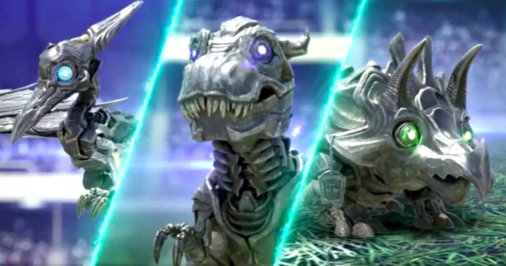 Baby Dinobots Revealed in Transformers 5 Super Bowl Spot -- The official Transformers: The Last Knight Facebook page teases the arrival of new Baby Dinobots. -- http://movieweb.com/transformers-last-knight-super-bowl-spot-baby-dinobots/