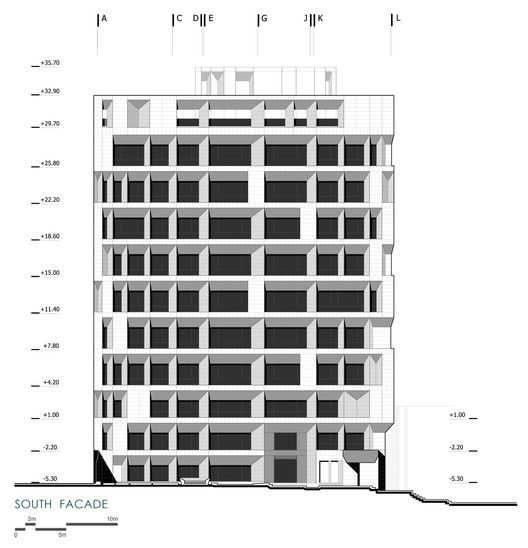 Sipan Residential Building,Elevation