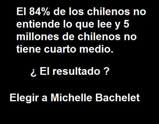 Por qué ganó Bachelet?