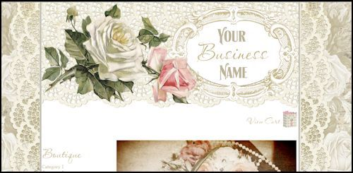 shabby chic website design templates - Google Search