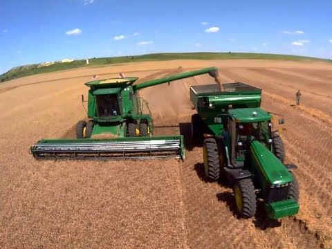2014 Wheat Harvest at the LaRosh Farm in Osborne County, Kansas. Filmed in June and July 2014. Aerial views are from the Blade 350 QX2 AP quadcopter drone